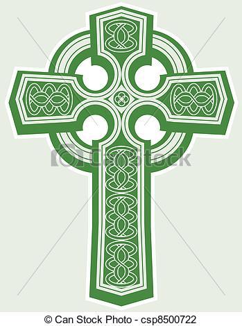 ... Celtic Cross - An Icon Of A Green Ce-... Celtic Cross - An icon of a green celtic style cross Celtic Cross Clip Artby ...-6