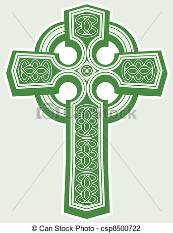 ... Celtic Cross - An Icon Of A Green Ce-... Celtic Cross - An icon of a green celtic style cross-4