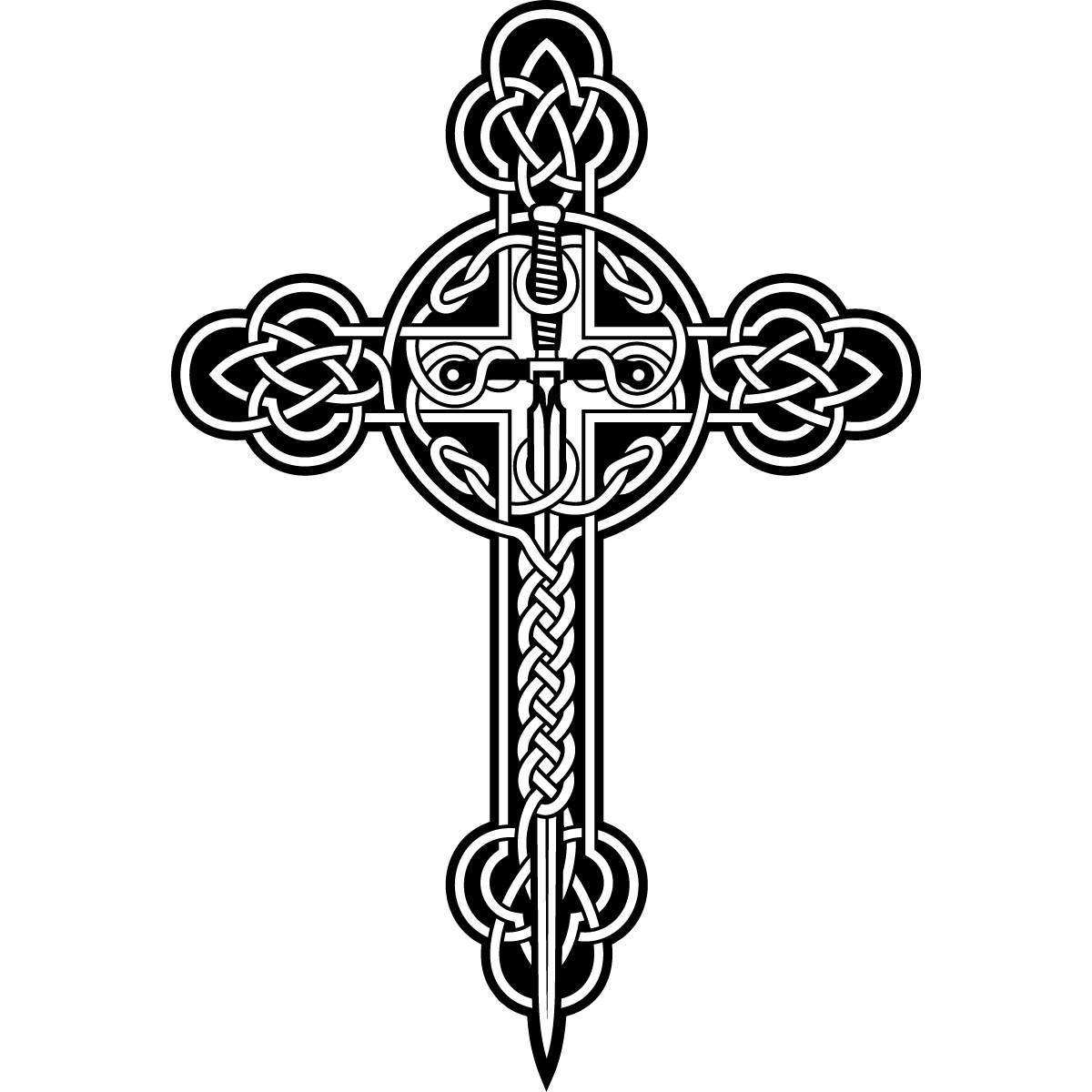 Celtic Cross Clip Art - .-Celtic Cross Clip Art - .-6