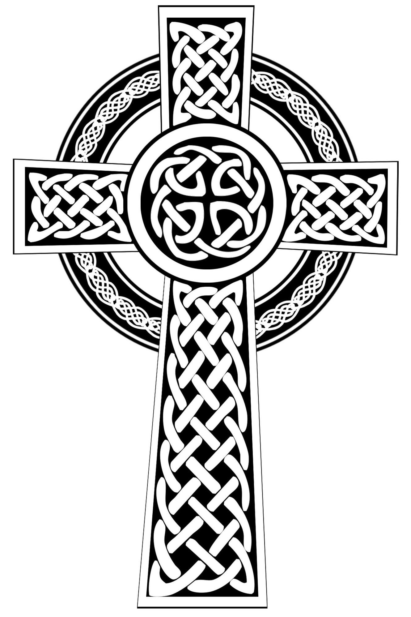 Celtic Cross Line Drawing-Celtic Cross Line Drawing-11