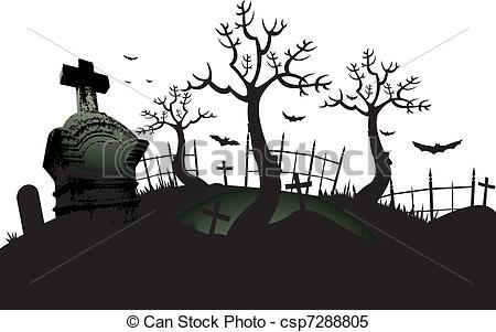 Cemetery background - Halloween cemetery background