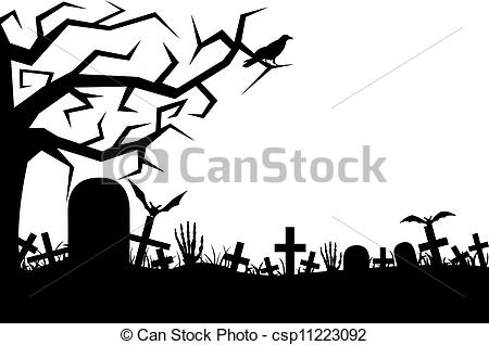 ... Cemetery isolated on white