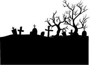 Cemetery Silhouette Silhouette Of Cemetery