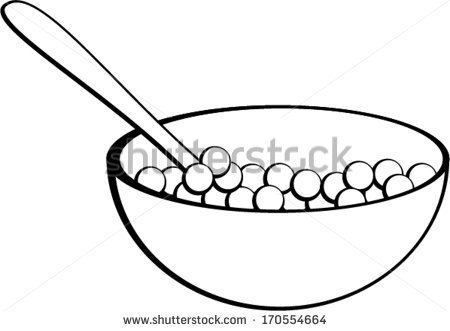Cereal Bowl Clipart Black And White Empt-Cereal Bowl Clipart Black And White Empty Cereal Box Clipart-3