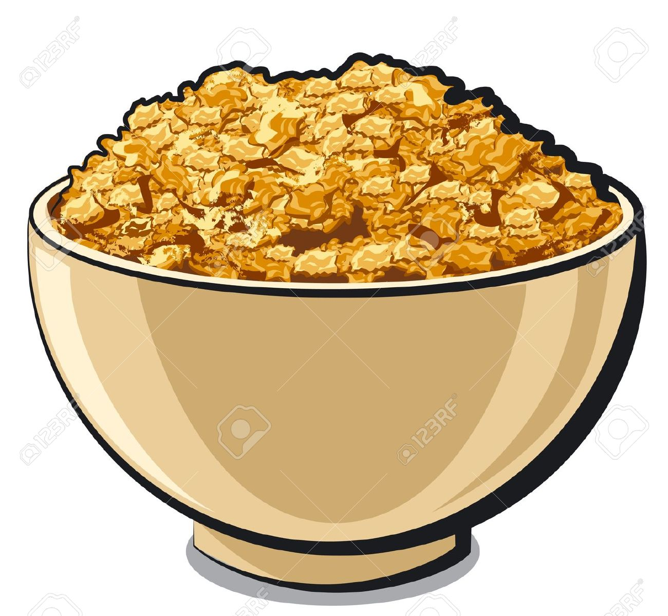 cereal bowl: tasty cornflakes .