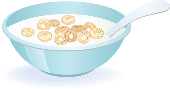 Cereal Bowl vector art .