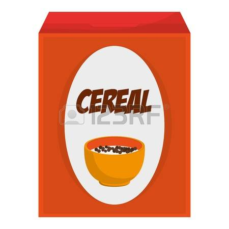 cereal box: flat design cereal box icon -cereal box: flat design cereal box icon vector illustration-14