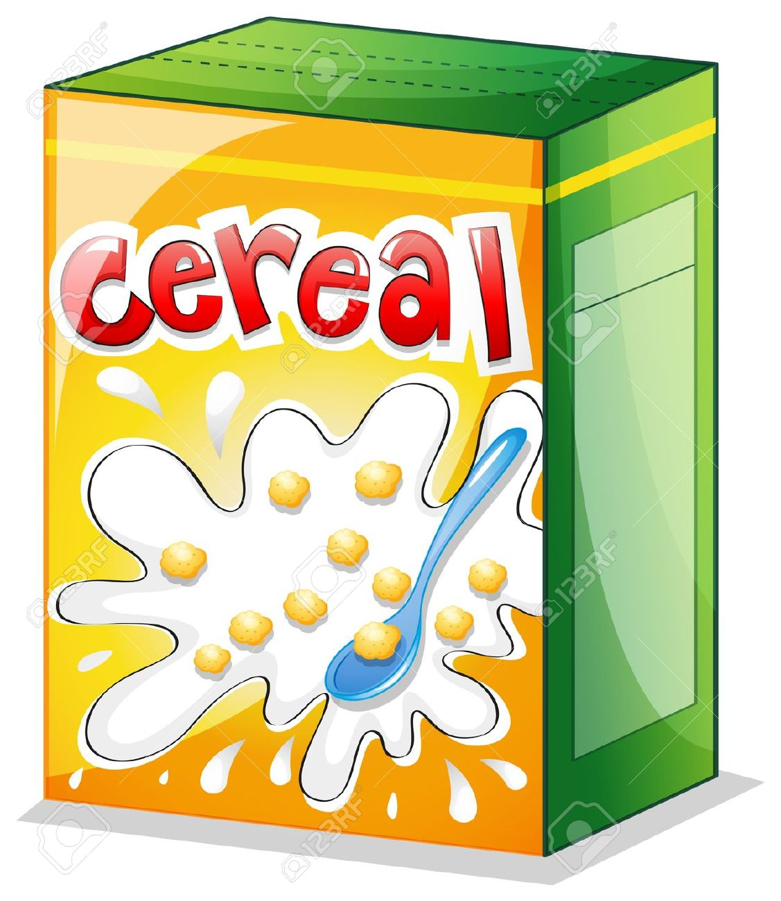 cereal box: Illustration of a .-cereal box: Illustration of a .-1