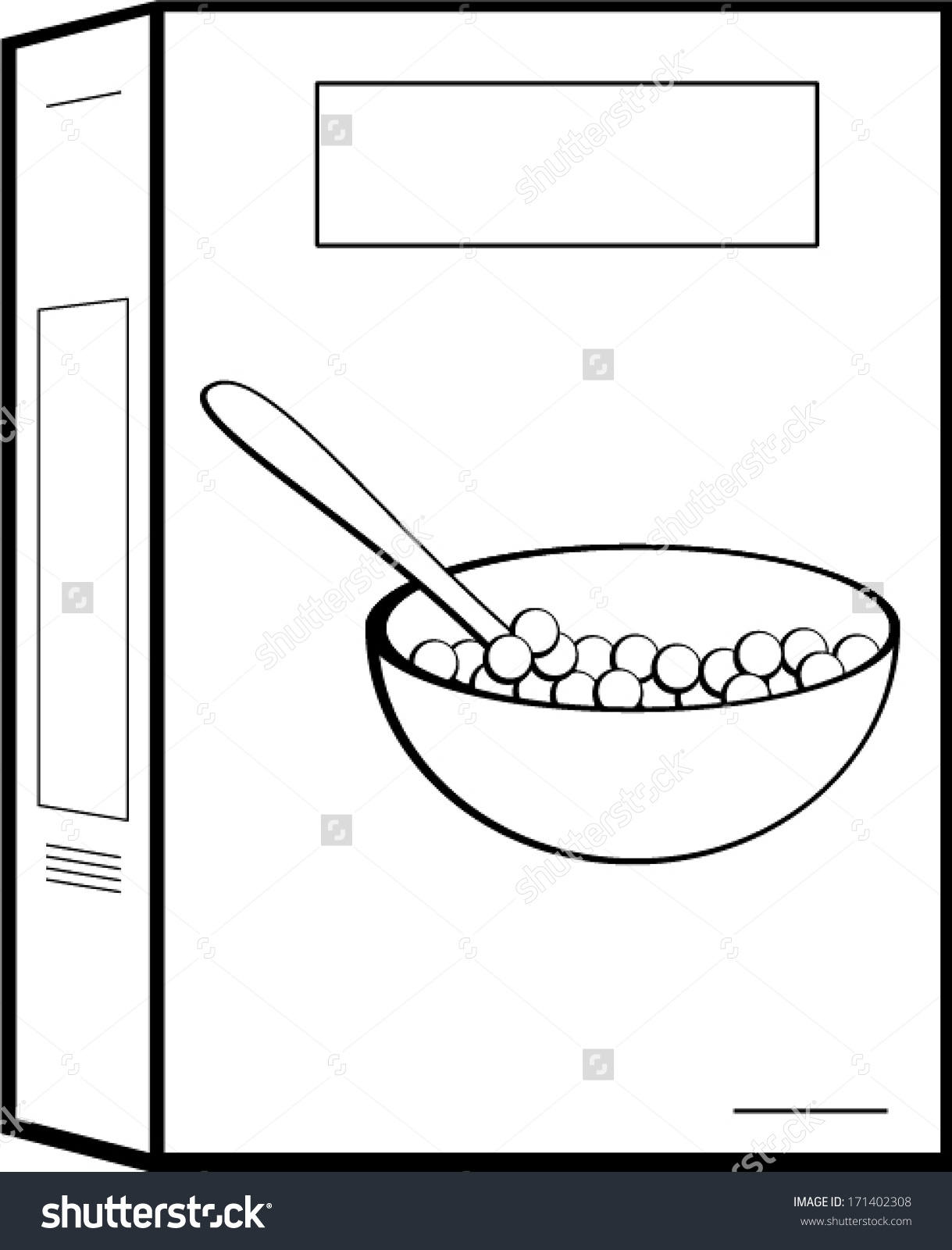Cereal Box Stock Vector .