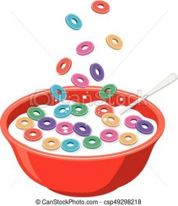 Free Cereal Clipart vector red bowl with cereals in milk isolated on white  vector alarm clock clipart