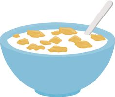 Image result for bowl of cereal clipart