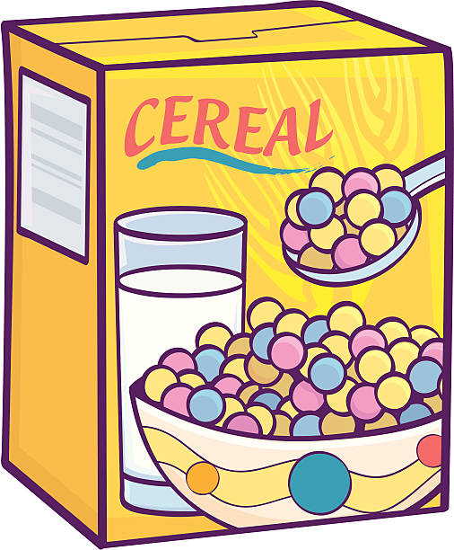 Sugary Cereal vector art illustration