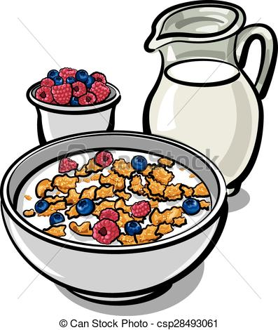 Cereal Clipart. Vector - Cereals And Mil-Cereal Clipart. Vector - cereals and milk-12