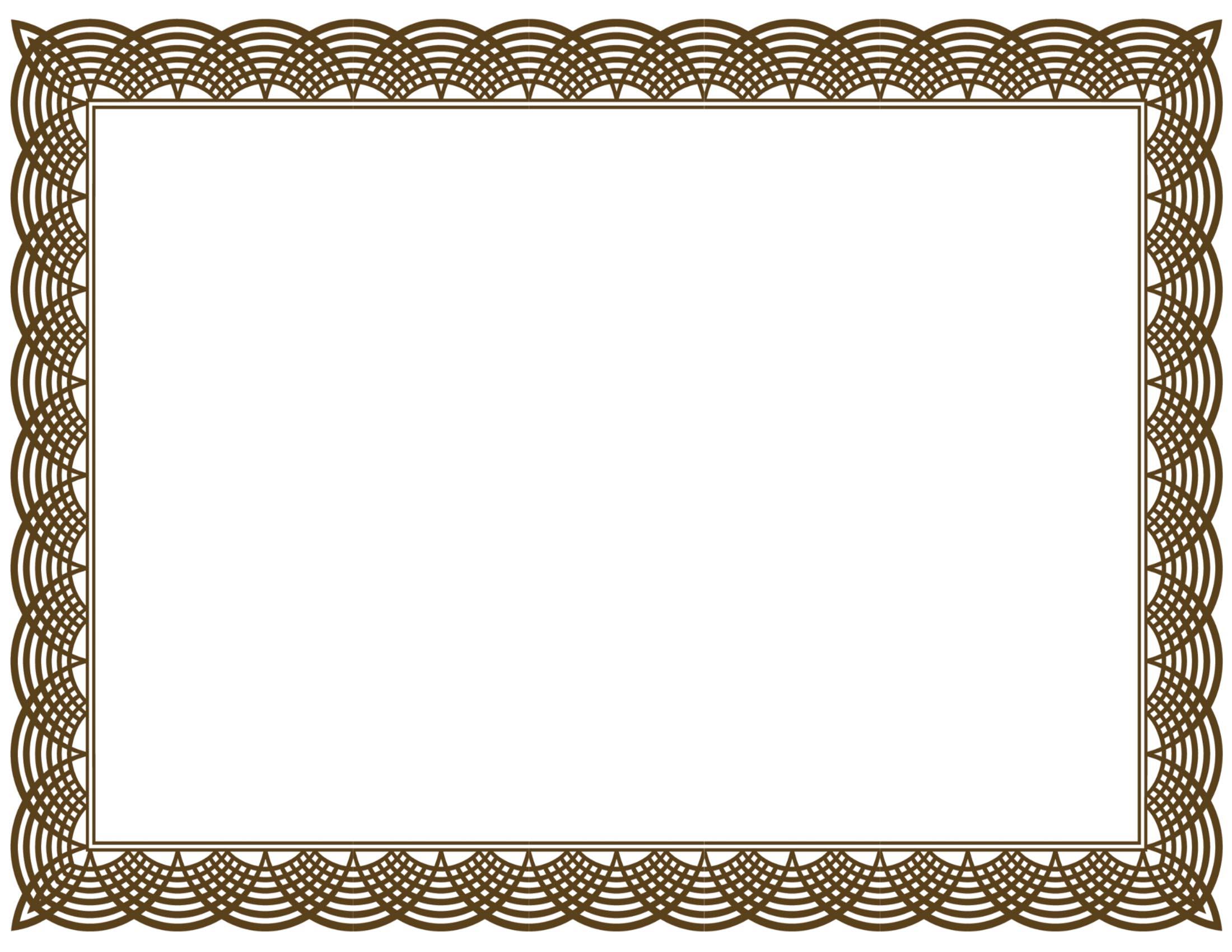 Certificate Border Design .