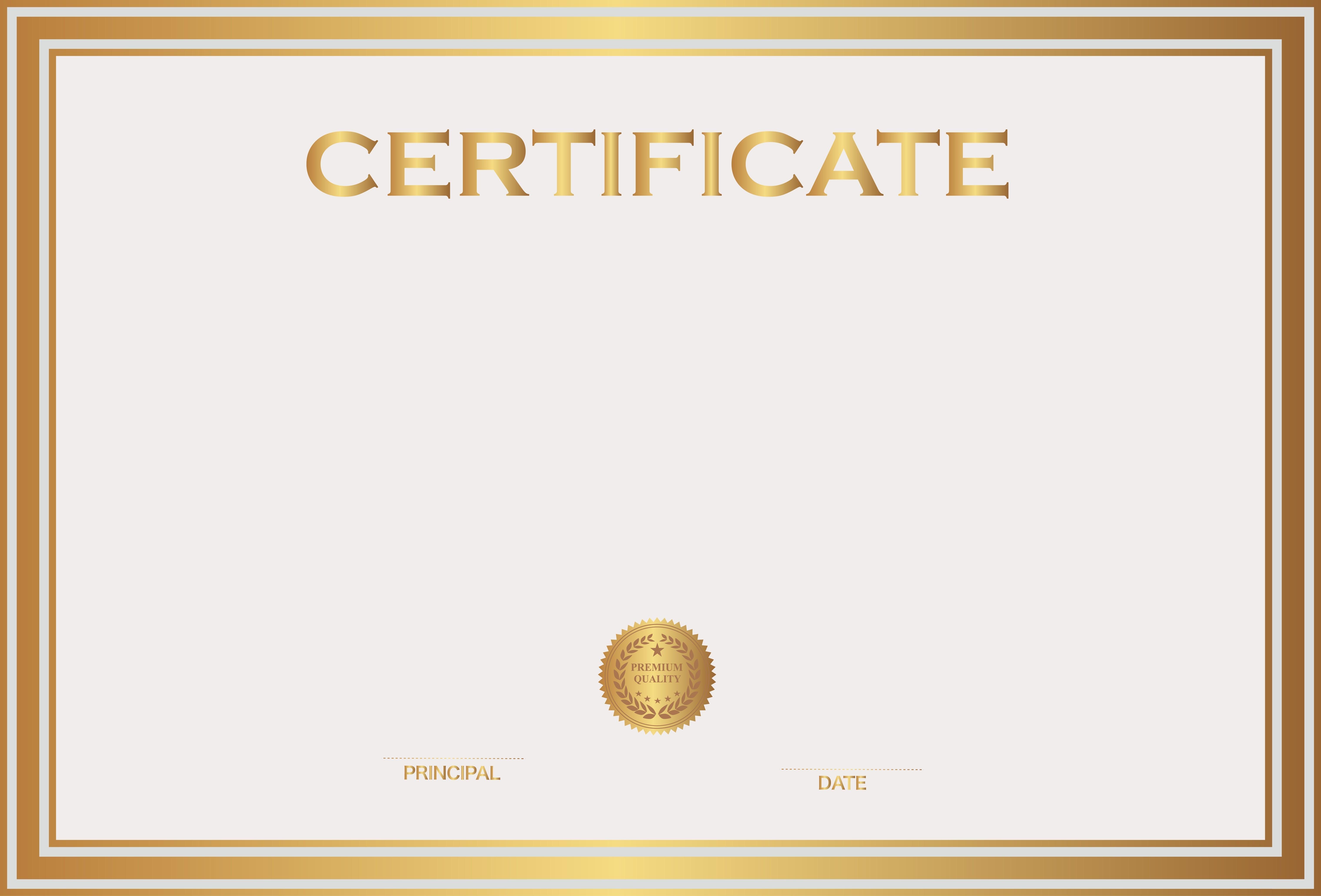 Certificate Template Clipart