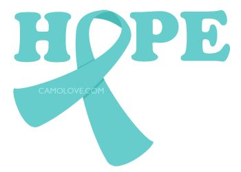 Cervical Cancer Ribbon Clip Art   Cervical Cancer/PCOS Awareness