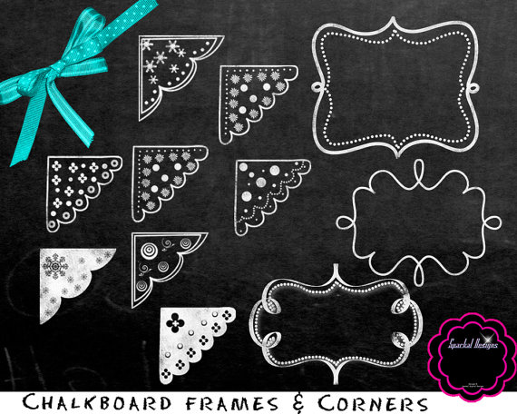 Chalk Scroll Clip art .