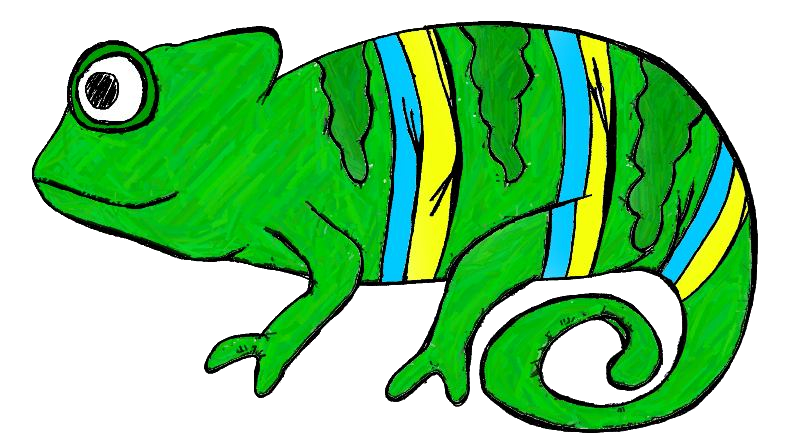 Chameleon Clip Art-Chameleon Clip Art-2