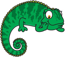 Chameleon Cartoon Cameleon Cl - Chameleon Clip Art