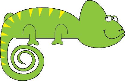 Chameleon clip art 2 - Chameleon Clip Art