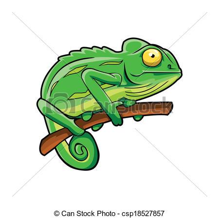 Chameleon Stock Illustrationb - Chameleon Clip Art