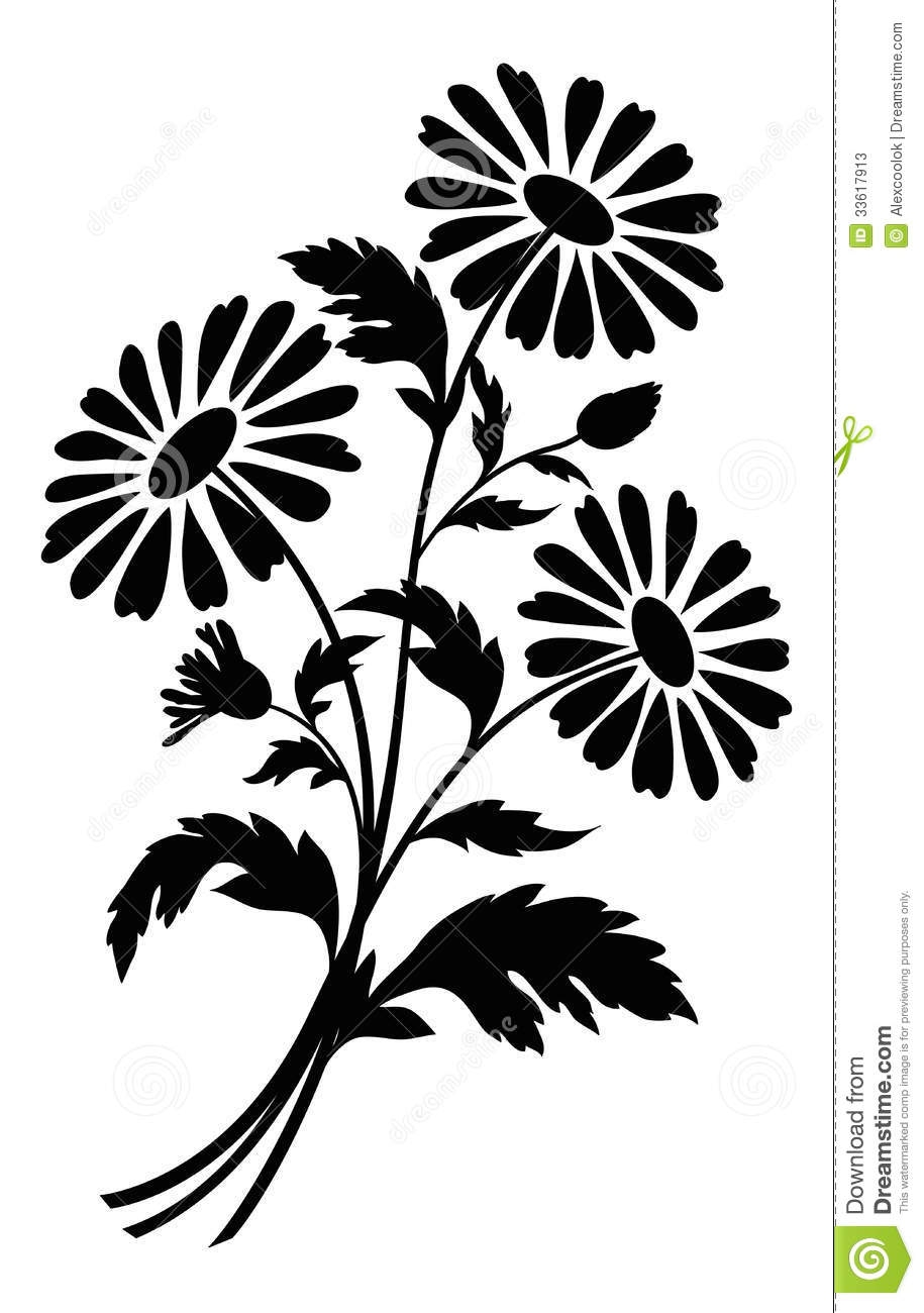Chamomile Flowers, Silhouettes-Chamomile flowers, silhouettes-5