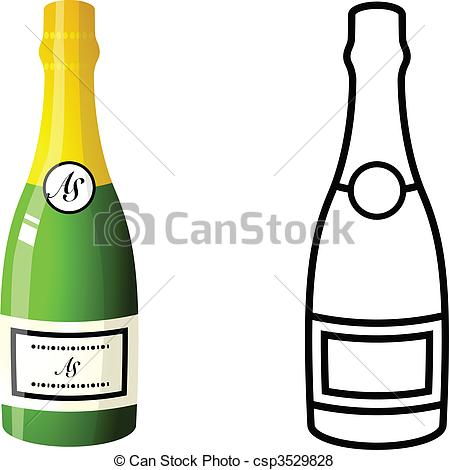 Champagne Bottle - csp3529828