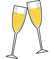 Champagne glass clipart illustration image