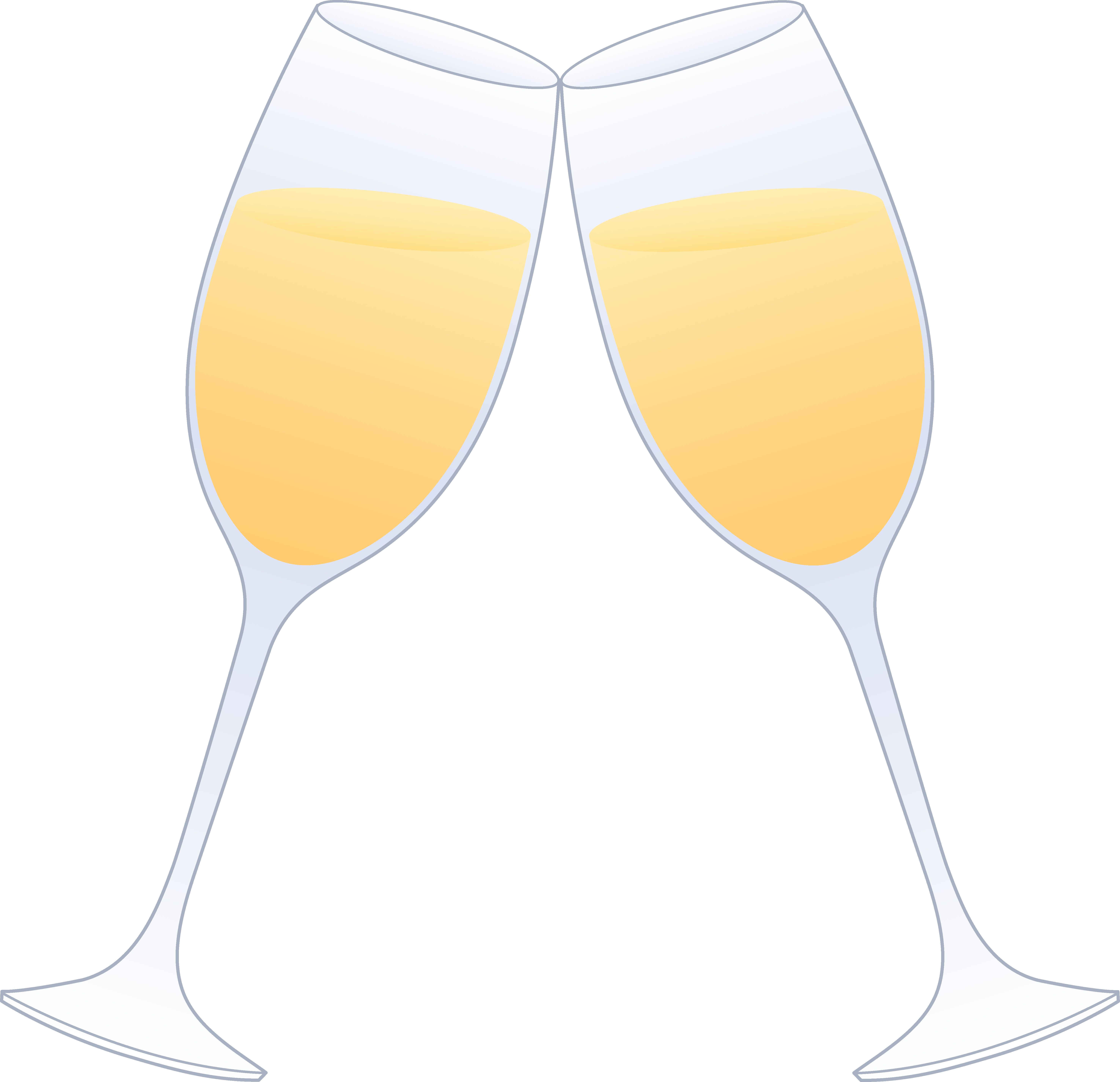 Champagne glass glasses of champagne clinking free clip art 2