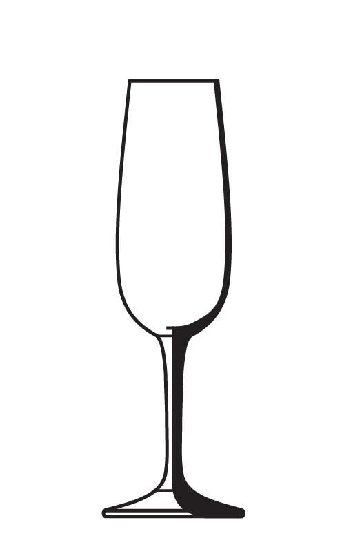 Champagne glass outline clipart