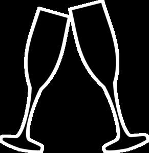 Champagne Glasses Clip Art - .-Champagne Glasses Clip Art - .-9