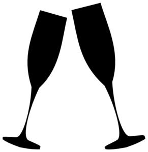 Champagne Glasses Clip Art - .