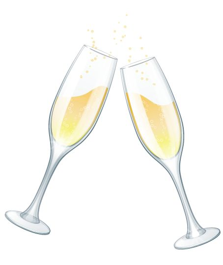 champagne glasses clip art .