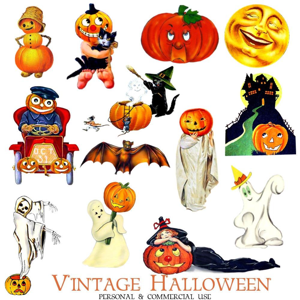 Retro Vintage Halloween Clip Art.66 Vintage Halloween Clip Art Clipartlook