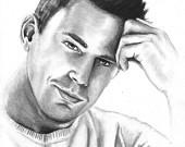 Channing Tatum Pencil Portrait - Origina-Channing Tatum Pencil Portrait - Original Art-5