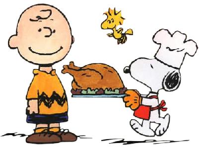 Charlie Brown Snoopy Woodstock Thanksgiving Dinner Cartoon