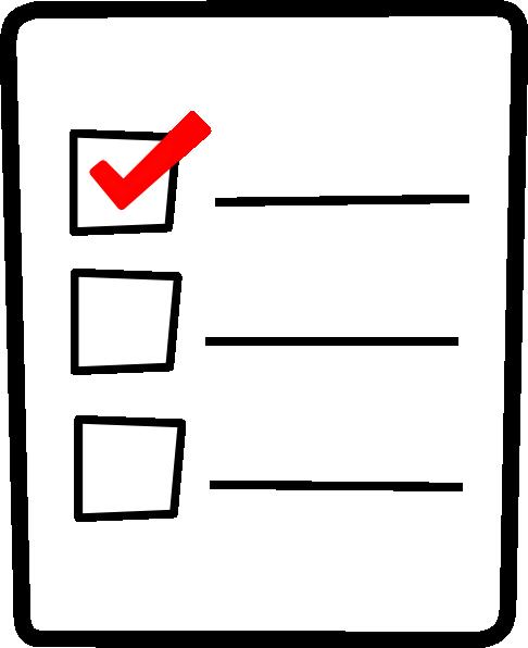Check List Clip Art Vector .
