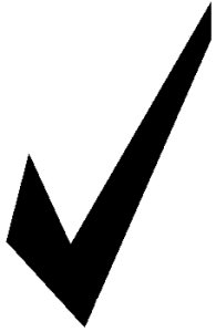 Check Mark Clip Art Black And - Clip Art Check Mark