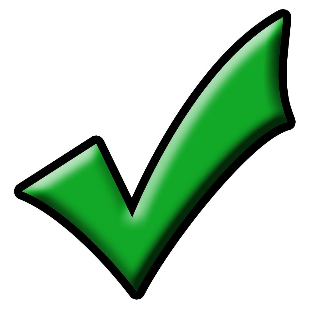 ... Check mark clipart symbol ...