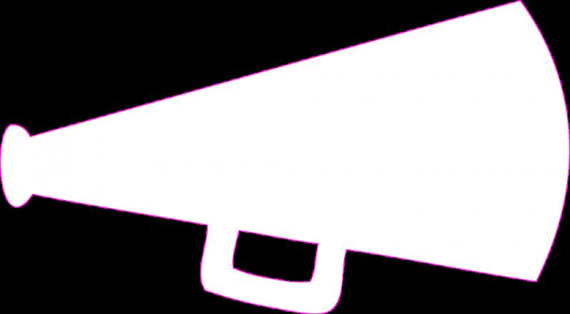 Cheer Megaphone Clipart Black And White-cheer megaphone clipart black and white-8