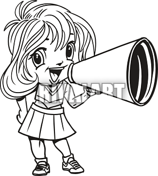 Cheerleader Clipart Black And White & Look At Clip Art ...