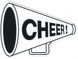 cheer megaphone clipart black and white. Clipart black and white .
