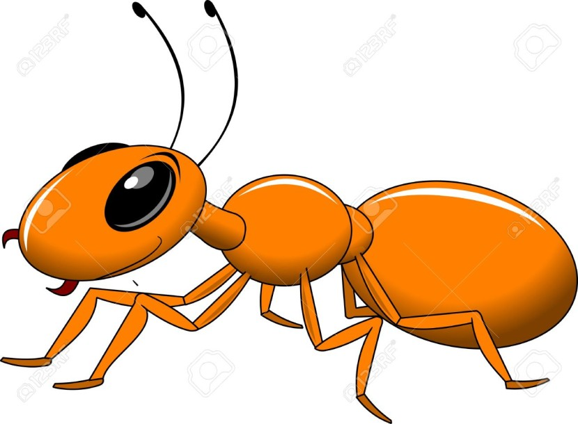 Cheerful Little Red Ant Royalty Free Cli-Cheerful Little Red Ant Royalty Free Cliparts Vectors And Stock-1
