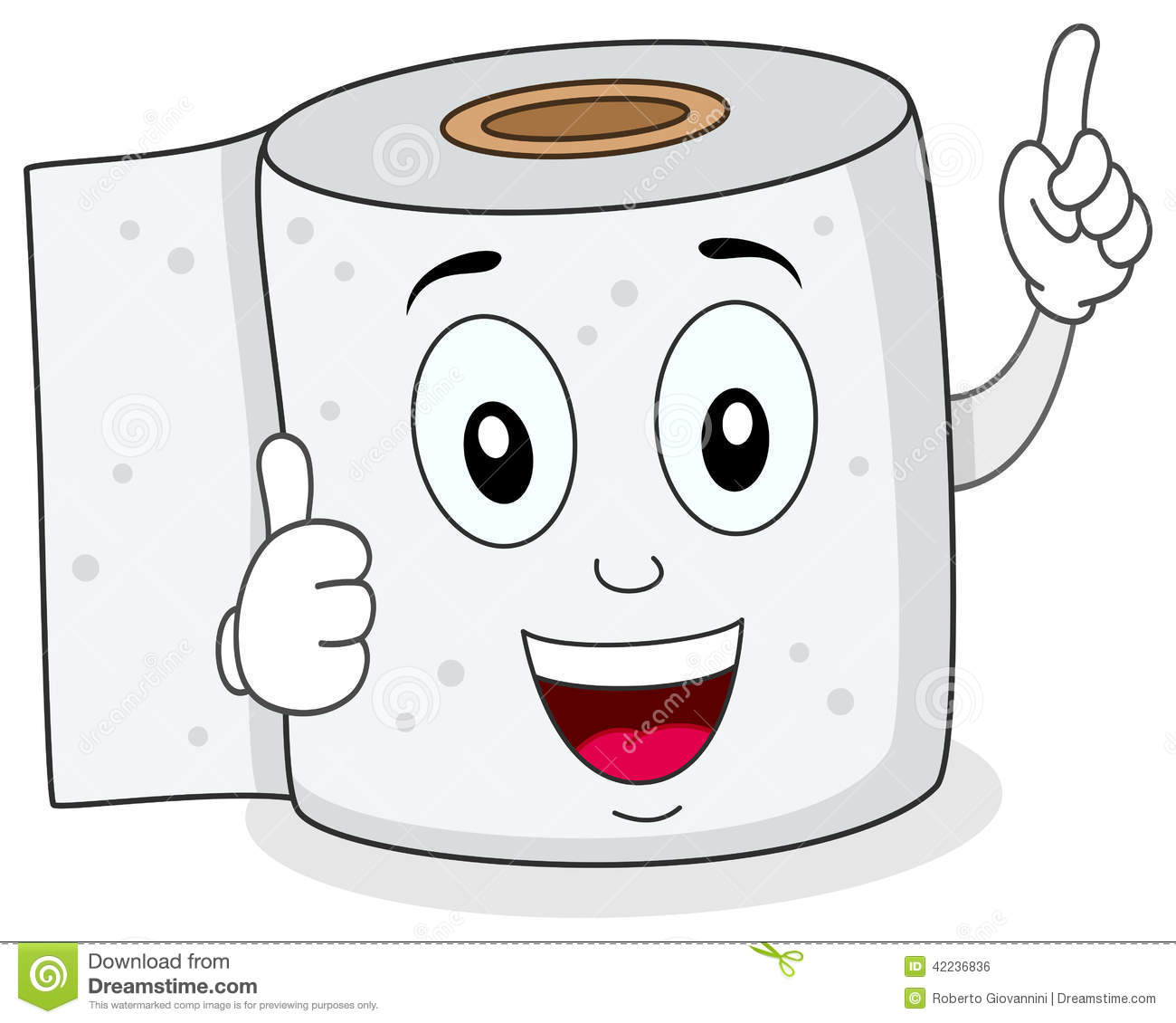 Cheerful Toilet Paper Smiling Character -Cheerful Toilet Paper Smiling Character Stock Vector Image 42236836-4