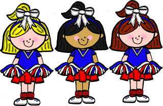 Cheerleader cheer clip art .