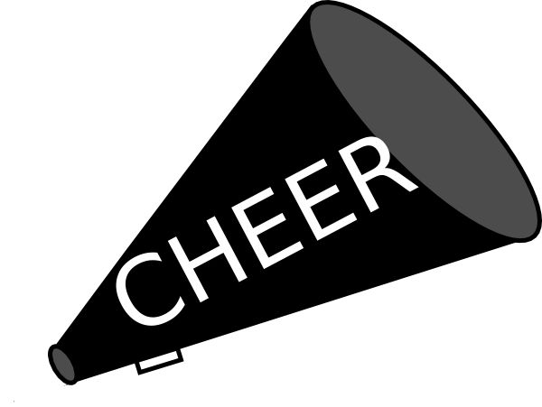 Cheerleader cheer on cheerleading ts and clip art