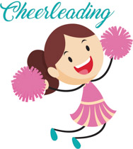 Cheerleader cheering holding red pom pom clipart. Size: 122 Kb
