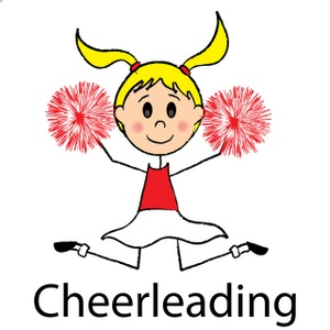 Cheerleader cheerleading stunt clipart clipart cheer clipart 2 3