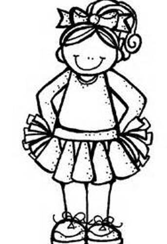 Cheerleader clip art free 2