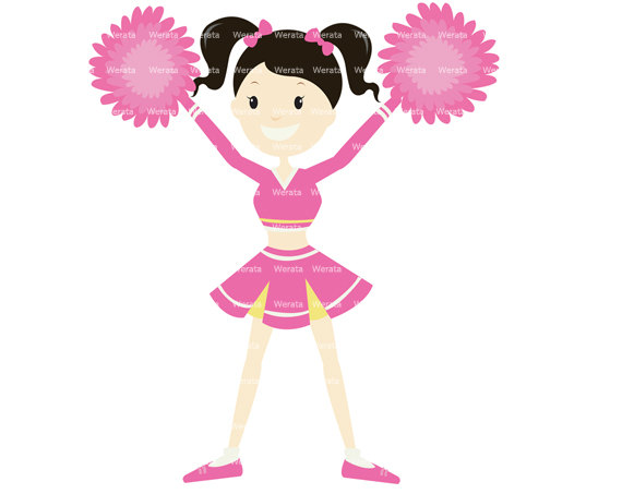 cheerleader clipart - cheerleader clip a-cheerleader clipart - cheerleader clip art - cute cheerleader - digital graphics - cheer graphics - Personal and Commercial Use-18
